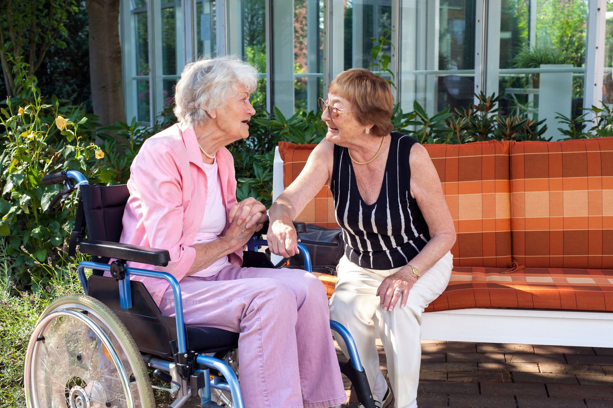 have a conversation with the caregiver or therapist