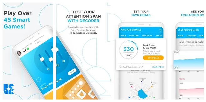 brain training app, Peak