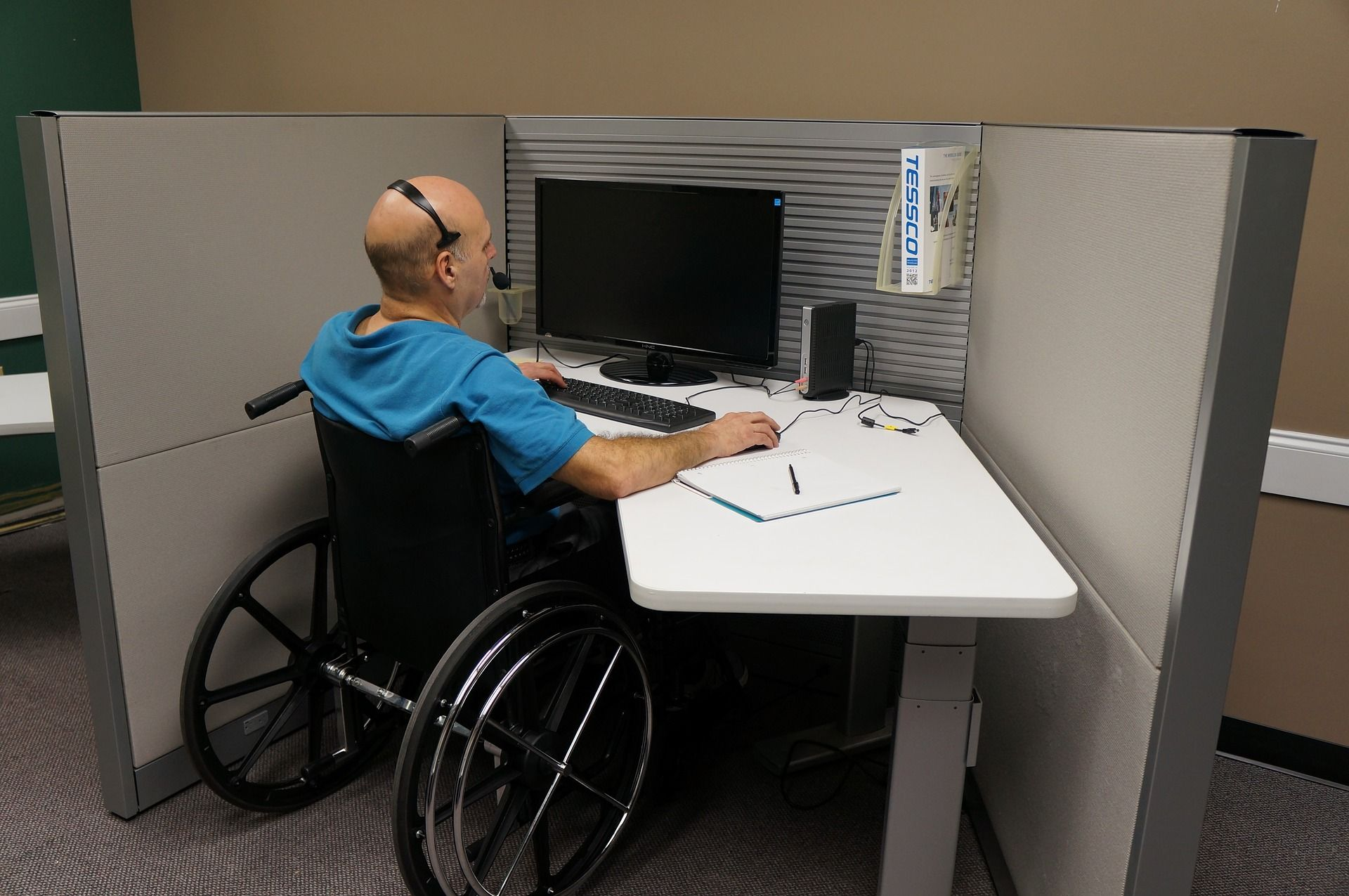 ergonomic workstation setup by a home health OT