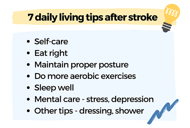 daily living tips after stroke