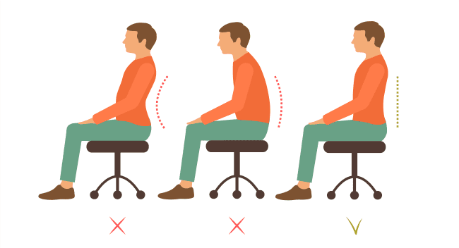 maintain proper posture after stroke